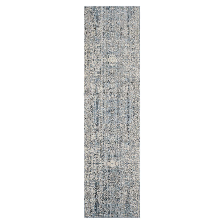Teppich Abella Vintage - Kunstfaser - Creme / Petrol - 68 x 243 cm, Safavieh