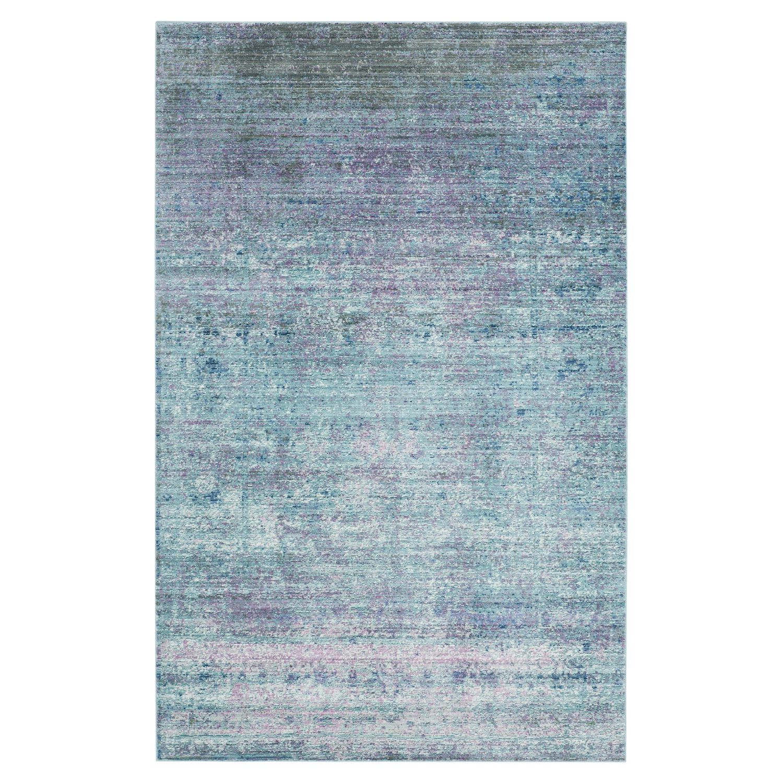 Teppich Lulu Vintage - Kunstfaser - Türkis / Pink - 243 x 304 cm, Safavieh