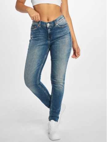Tommy Jeans Frauen Skinny Jeans Nora Mid Rise in blau