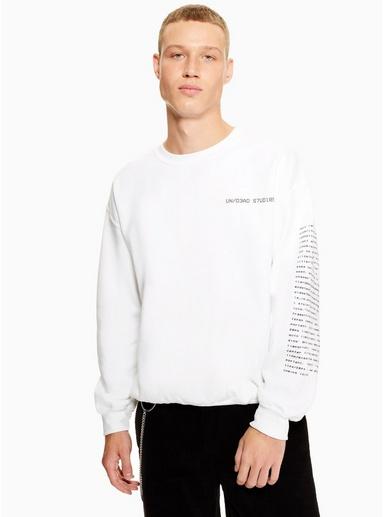 UNDEAD STUDIOS 'Code' Sweatshirt mit Logo, weiß, WEIß
