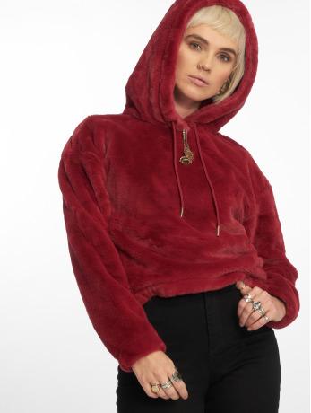Urban Classics Frauen Hoody Oversize Short Teddy in rot