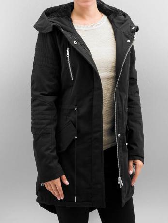 Urban Classics Frauen Winterjacke Ladies Sherpa Lined Cotton in schwarz