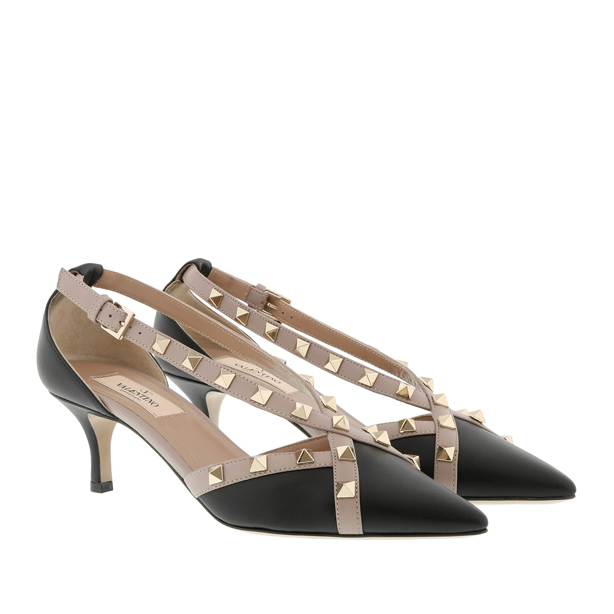 Valentino Pumps - Rockstud Pumps 55 Leather Black - in schwarz - für Damen