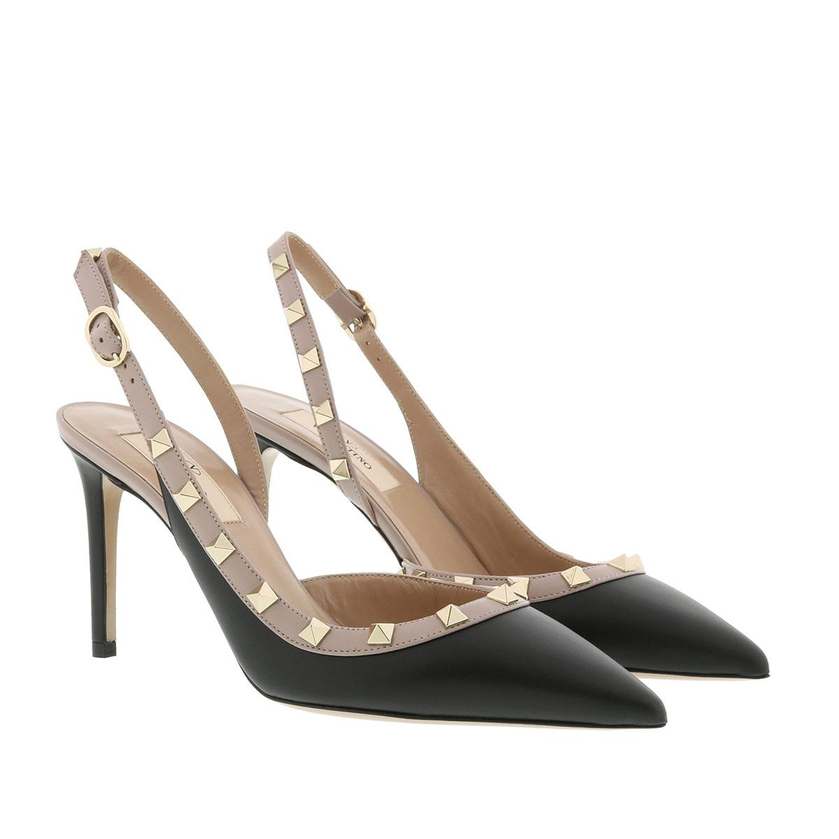 Valentino Pumps - Sling Back Pumps Leather Nero/Poudre - in schwarz - für Damen