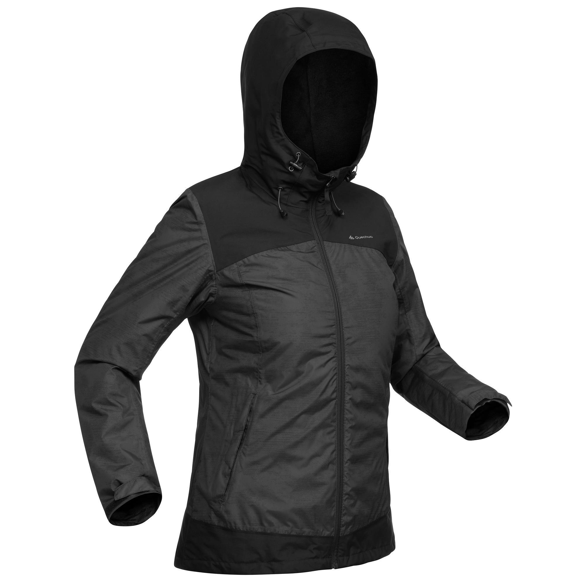 Wanderjacke Winterwandern SH100 X-Warm Damen schwarz