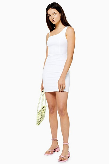Weißes Joni Bodycon-Kleid