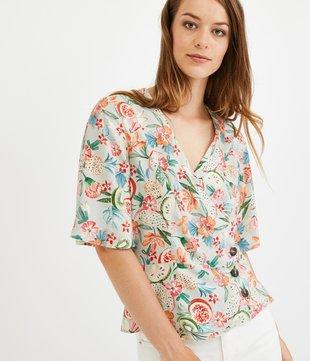 Wickel-Bluse für Damen