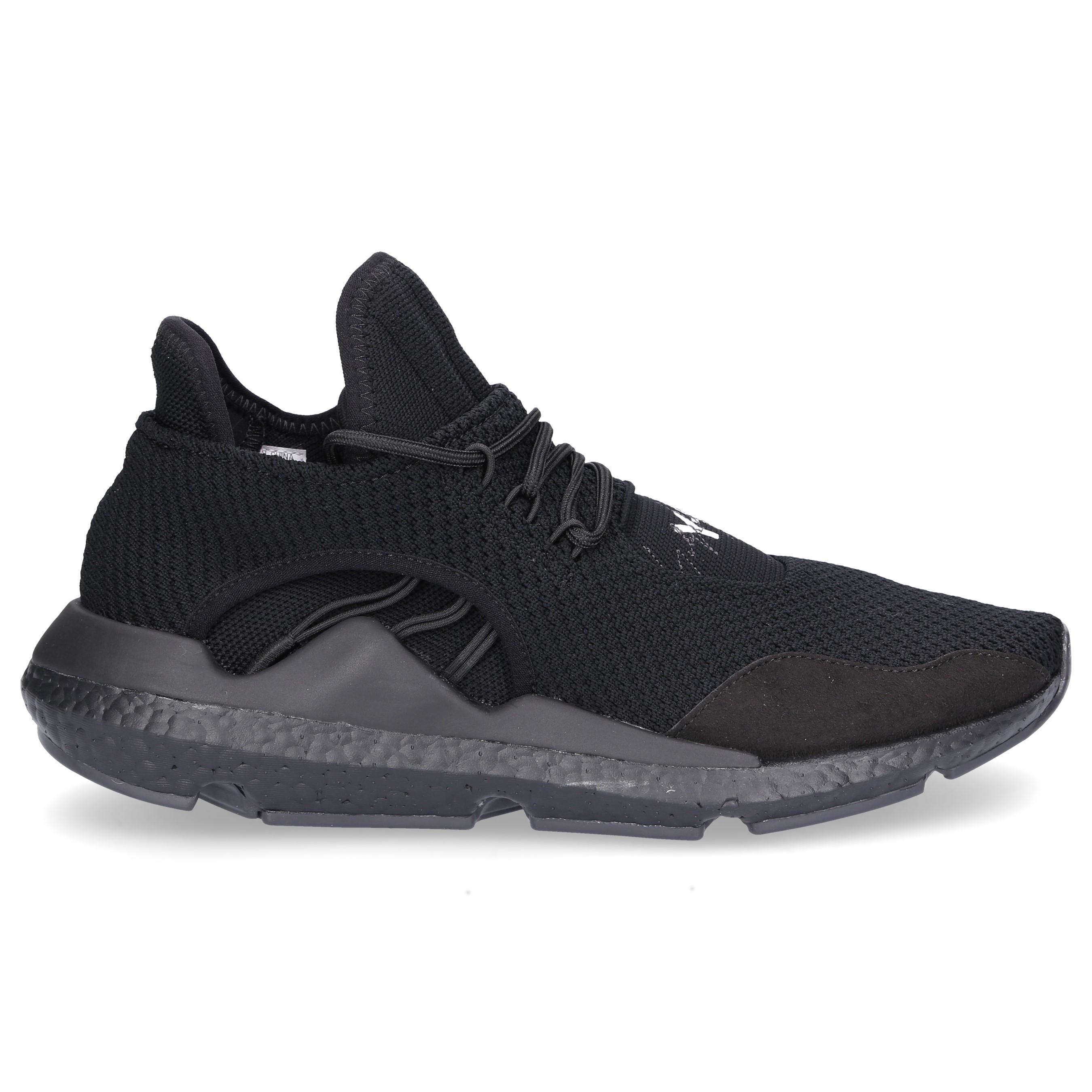 Y-3 Sneaker high SAIKOU Neopren Wildleder Streifen schwarz