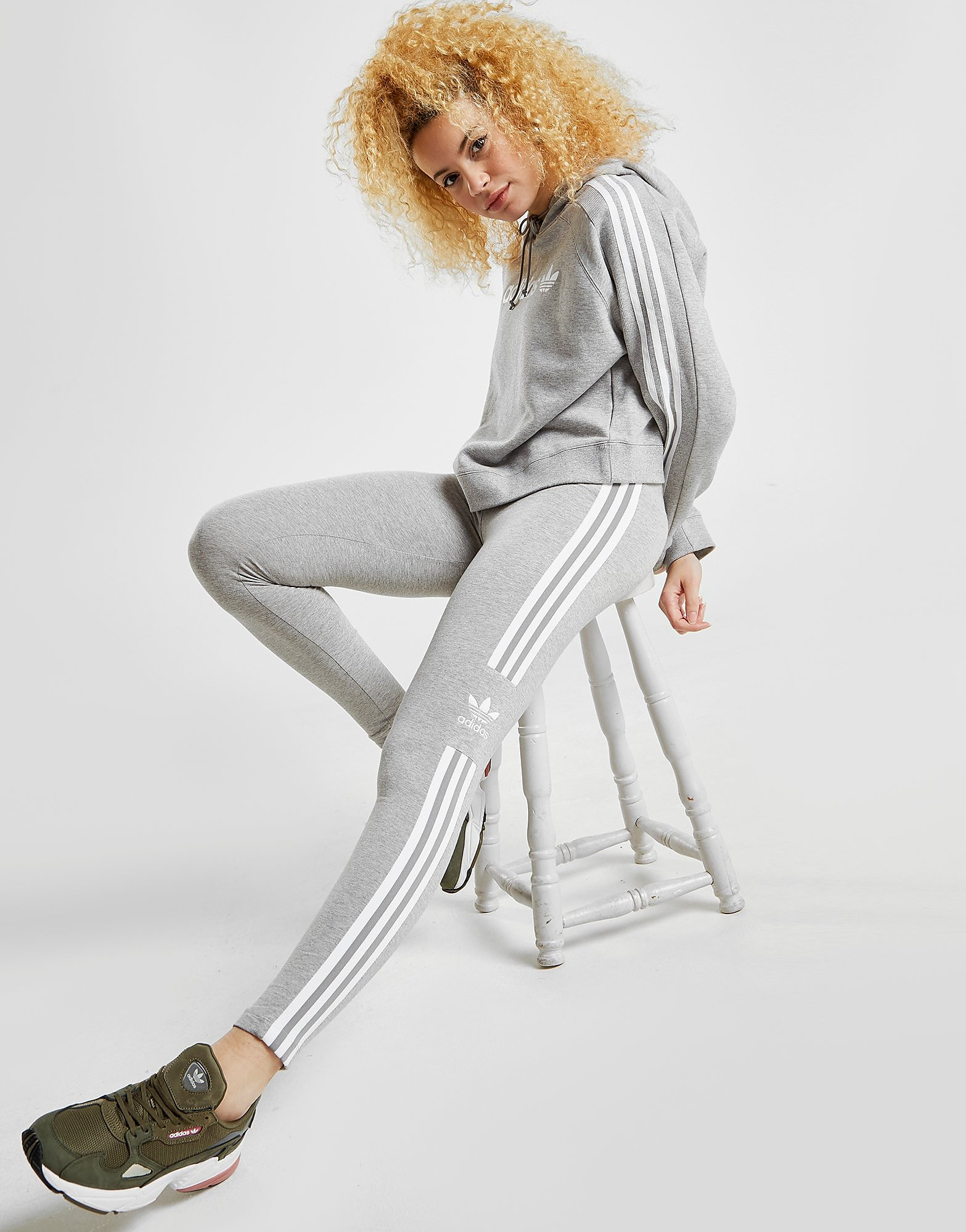 adidas Originals Trefoil Leggings Damen - Grau - Womens, Grau