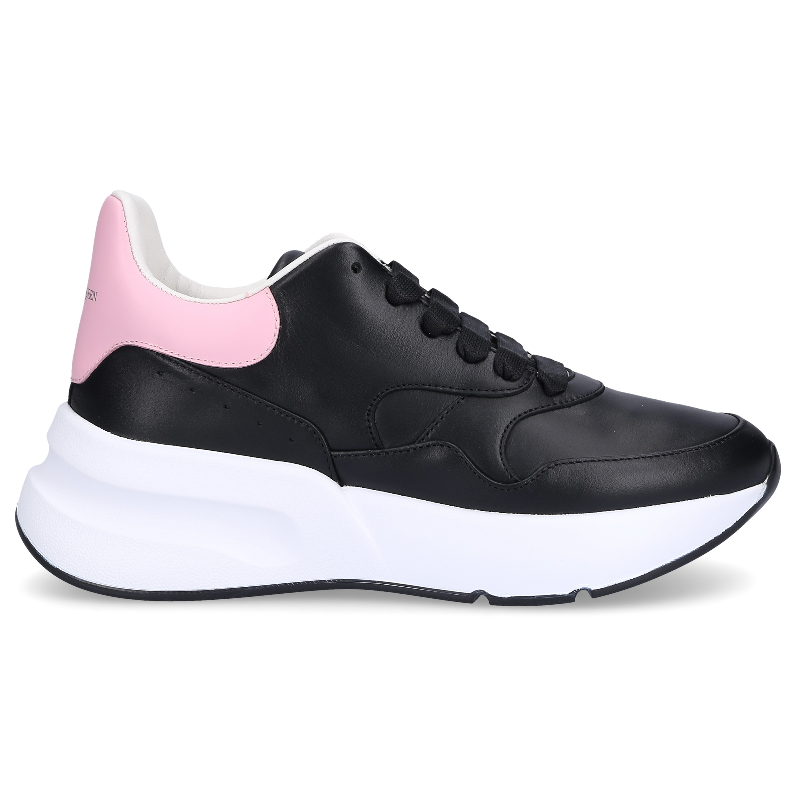 Alexander McQueen Sneaker low JOEY Nappaleder Logo rosa schwarz
