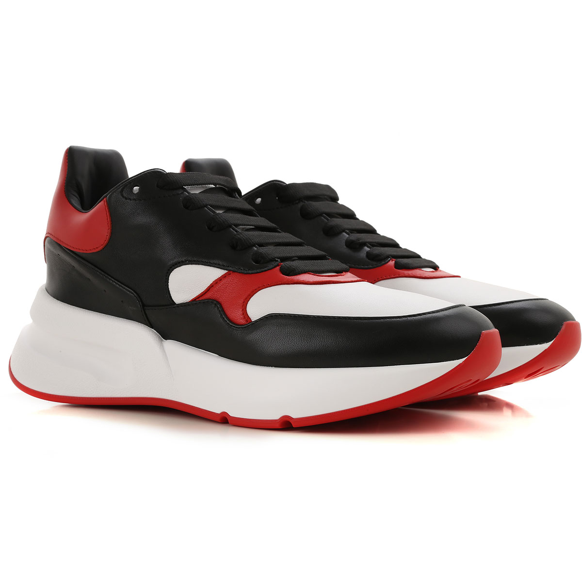 Alexander McQueen Sneakers for Men On Sale, Black, Leather, 2017, EUR 40 - US 7 - UK 6 EUR 41 - US 8 - UK 7 EUR 42 - US 9 - UK 8 EUR 43 - US 10 - UK 9 EUR 45 - US 12 - UK 11
