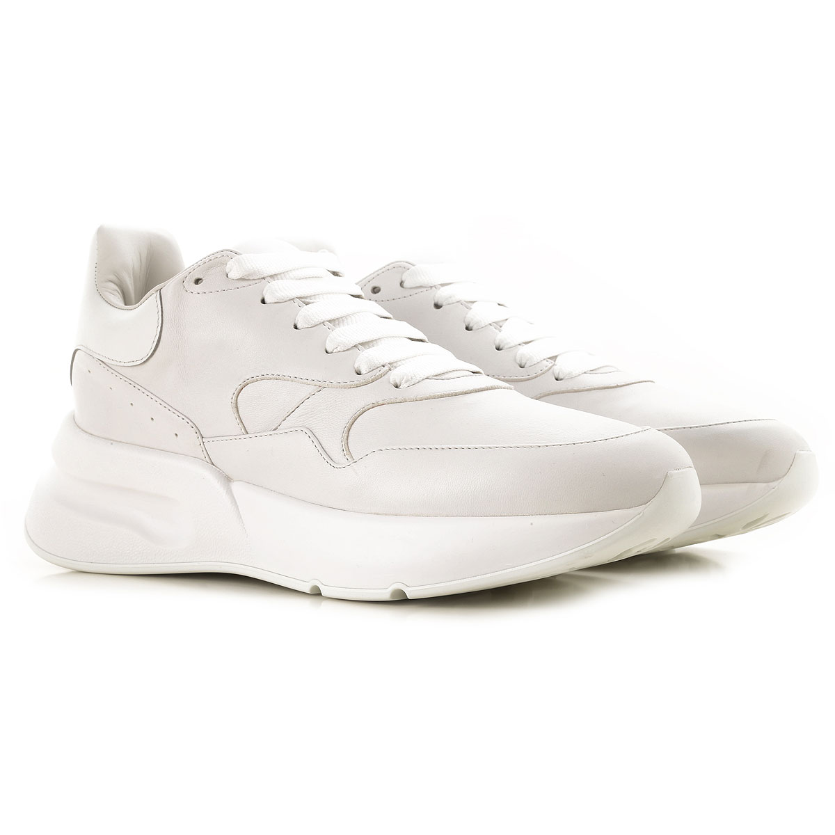 Alexander McQueen Sneakers for Men On Sale, White, Leather, 2017, EUR 44 - US 11 - UK 10 EUR 45 - US 12 - UK 11