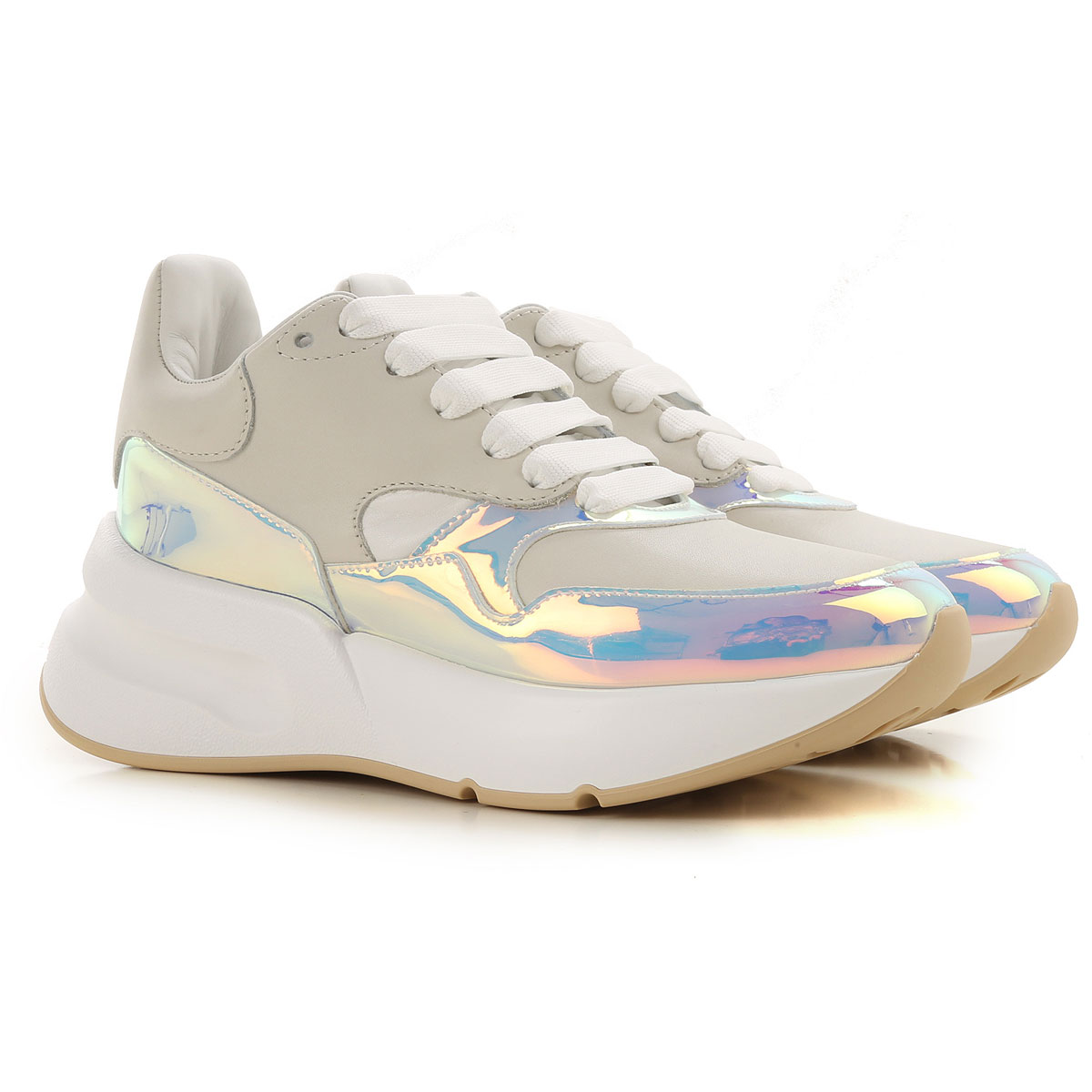 Alexander McQueen Sneakers for Women On Sale, Cream, Leather, 2017, 2.5 3.5 4.5 5.5 6.5 7.5 8.5