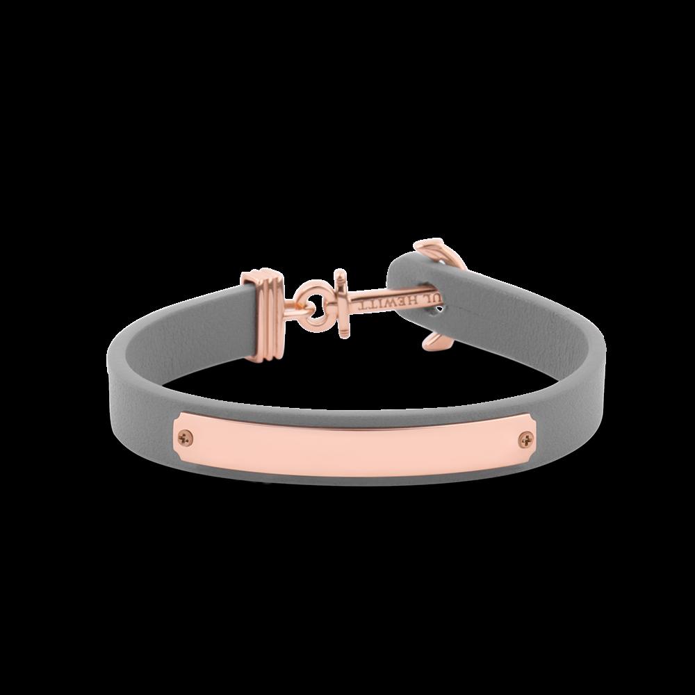 Ankerarmband Signum Gravur IP Roségold Grau
