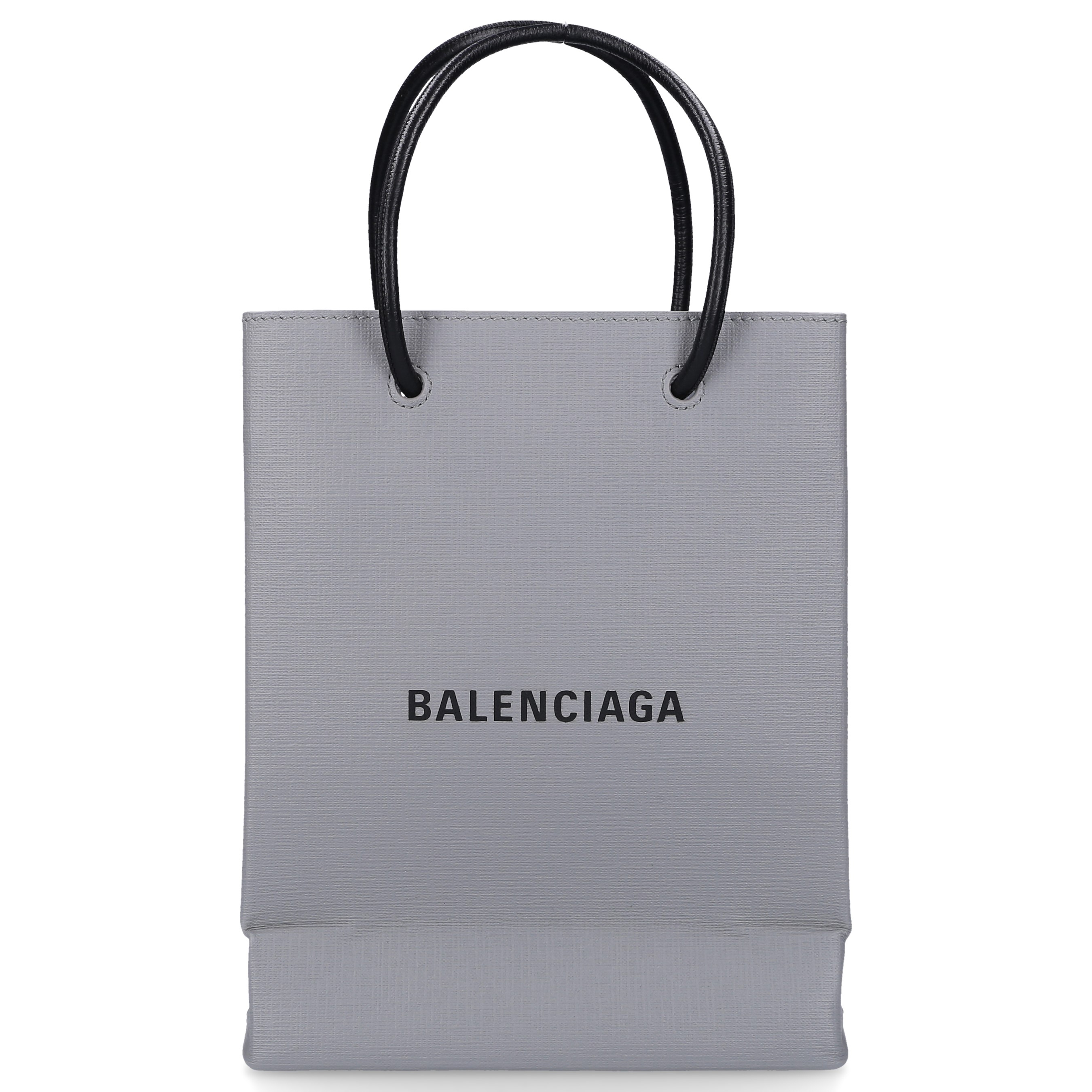 Balenciaga Handtasche SHOPPING TOTE XXS Kalbsleder Logo grau