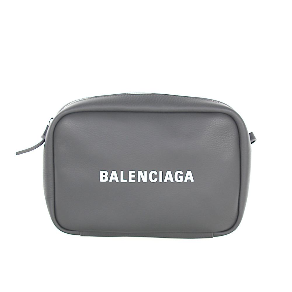 Balenciaga Umhängetasche EVERY CAM Leder grau Logo
