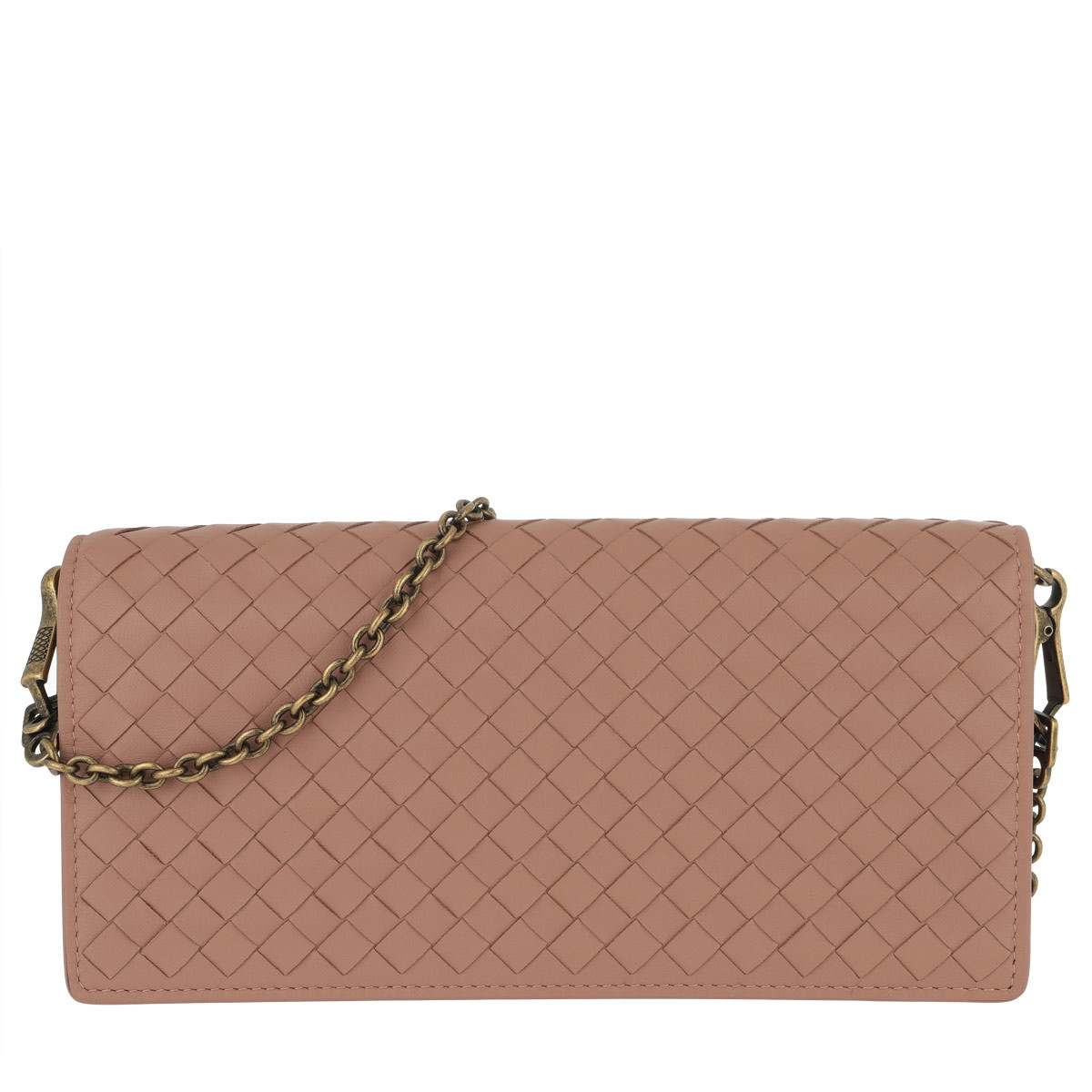 Bottega Veneta Umhängetasche - Intrecciato Clutch Leather Dahlia - in rosa - für Damen