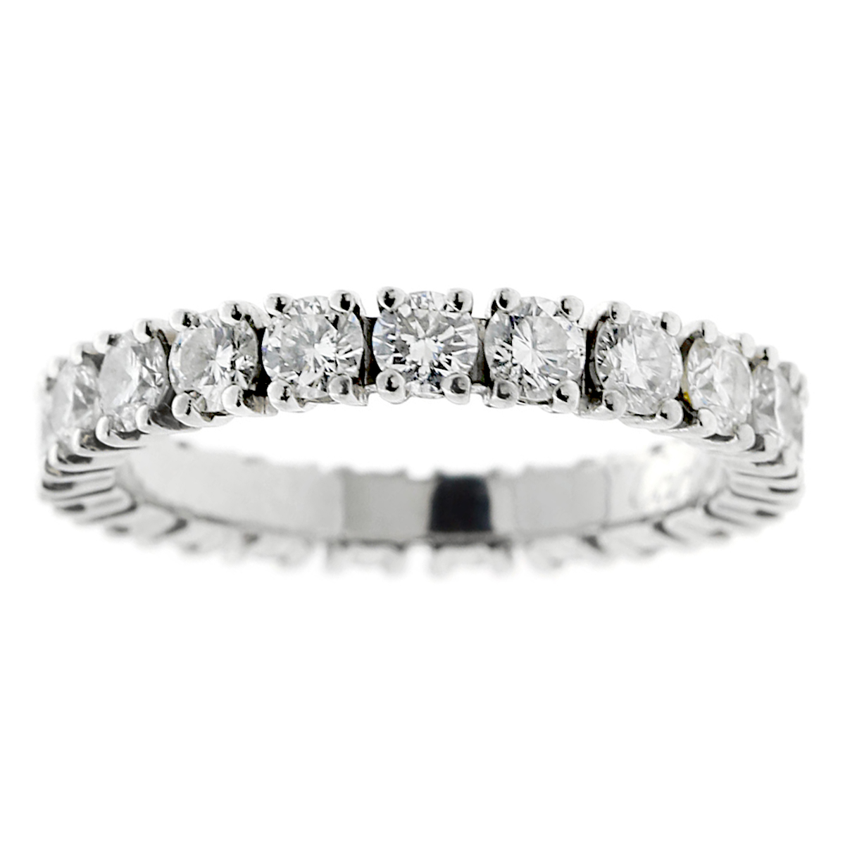Cartier Diamond Eternity Platinum Ring