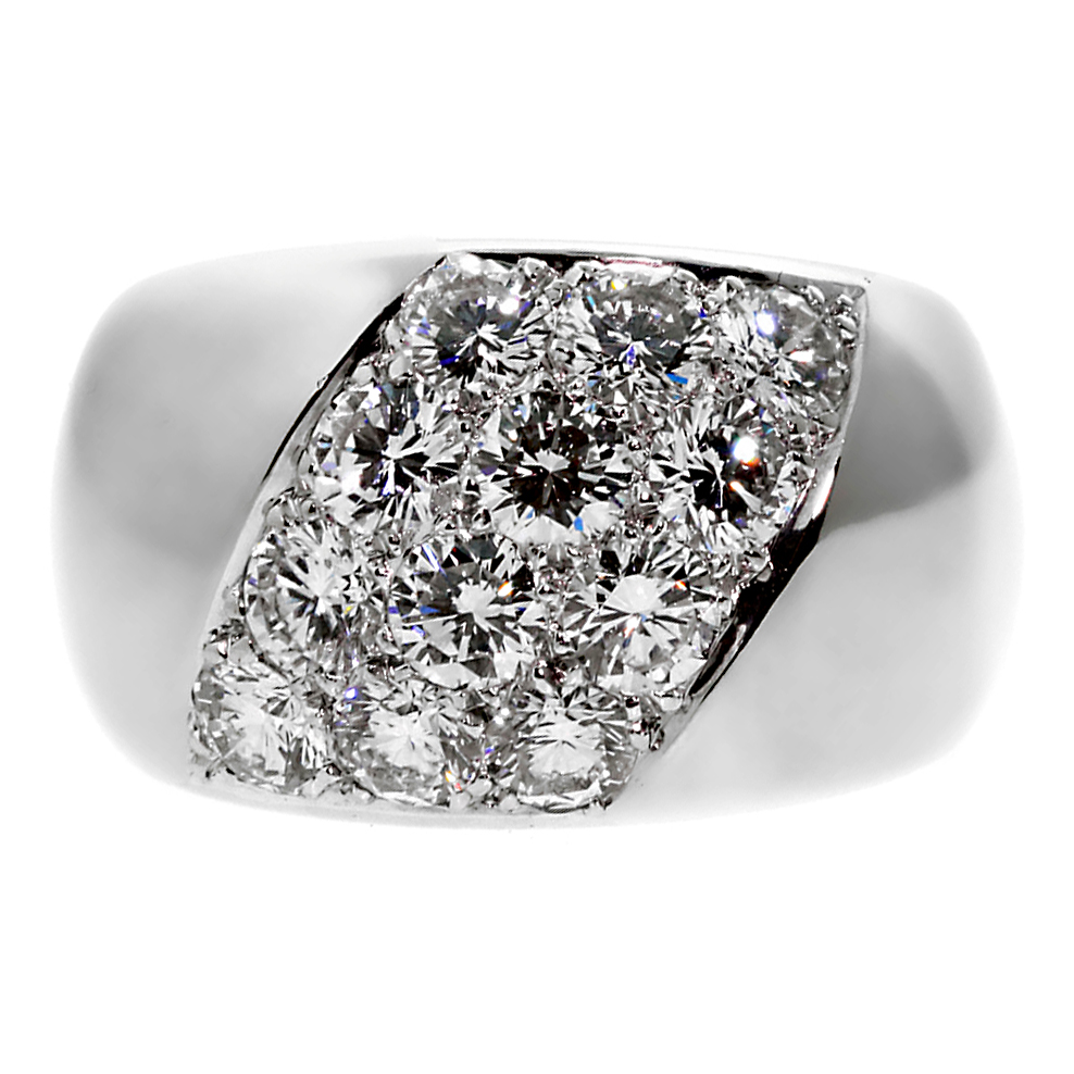 Cartier Diamond White Gold Ring