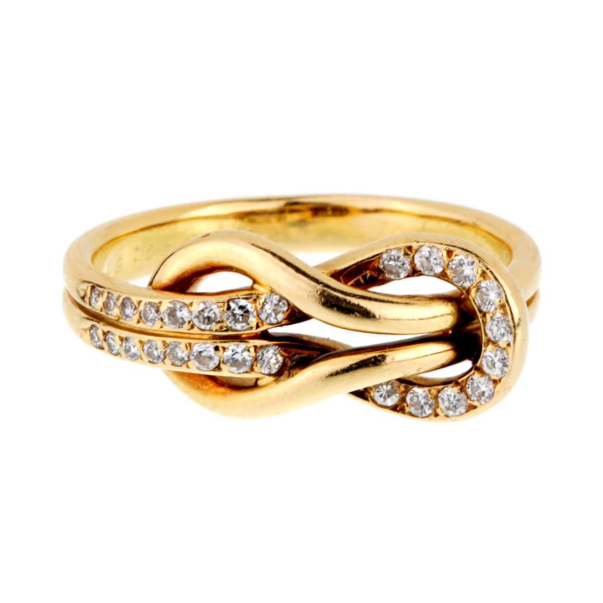 Cartier Love Knot Diamond Gold Ring