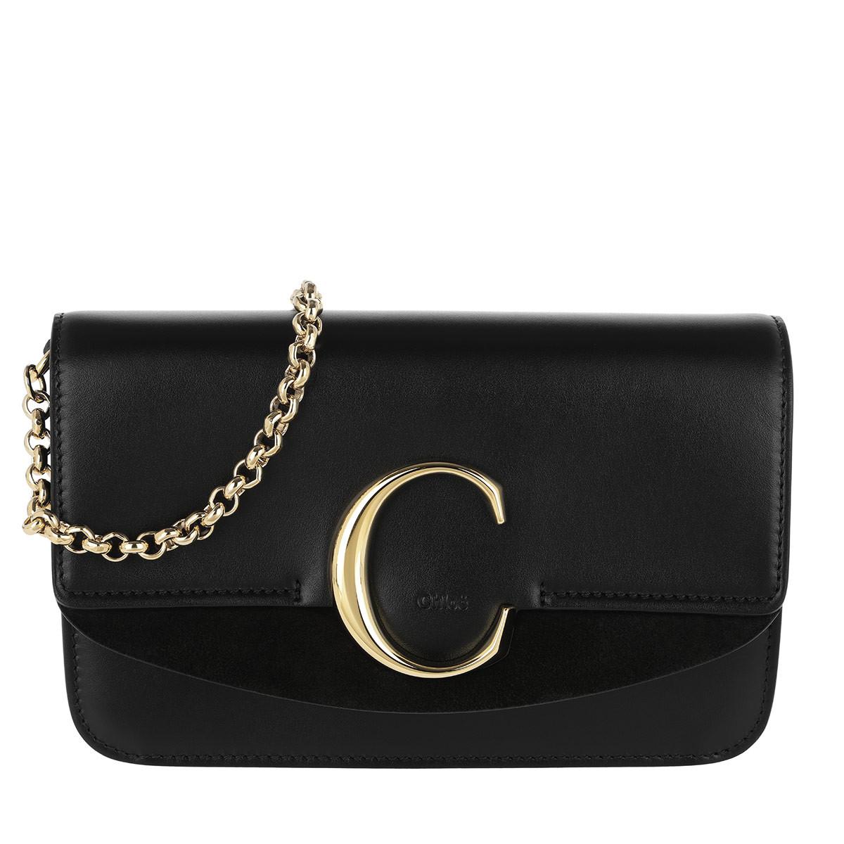 Chloé Umhängetasche - C Clutch With Chain Black - in schwarz - für Damen