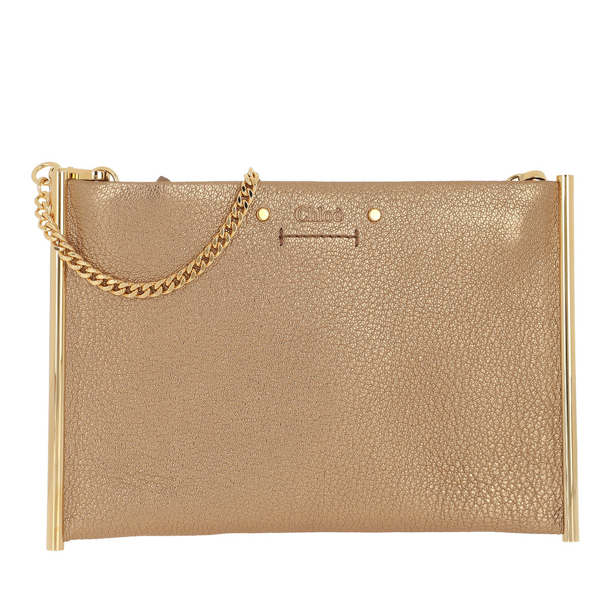 Chloé Umhängetasche - Roy Mini Clutch Leather Gold - in gold - für Damen