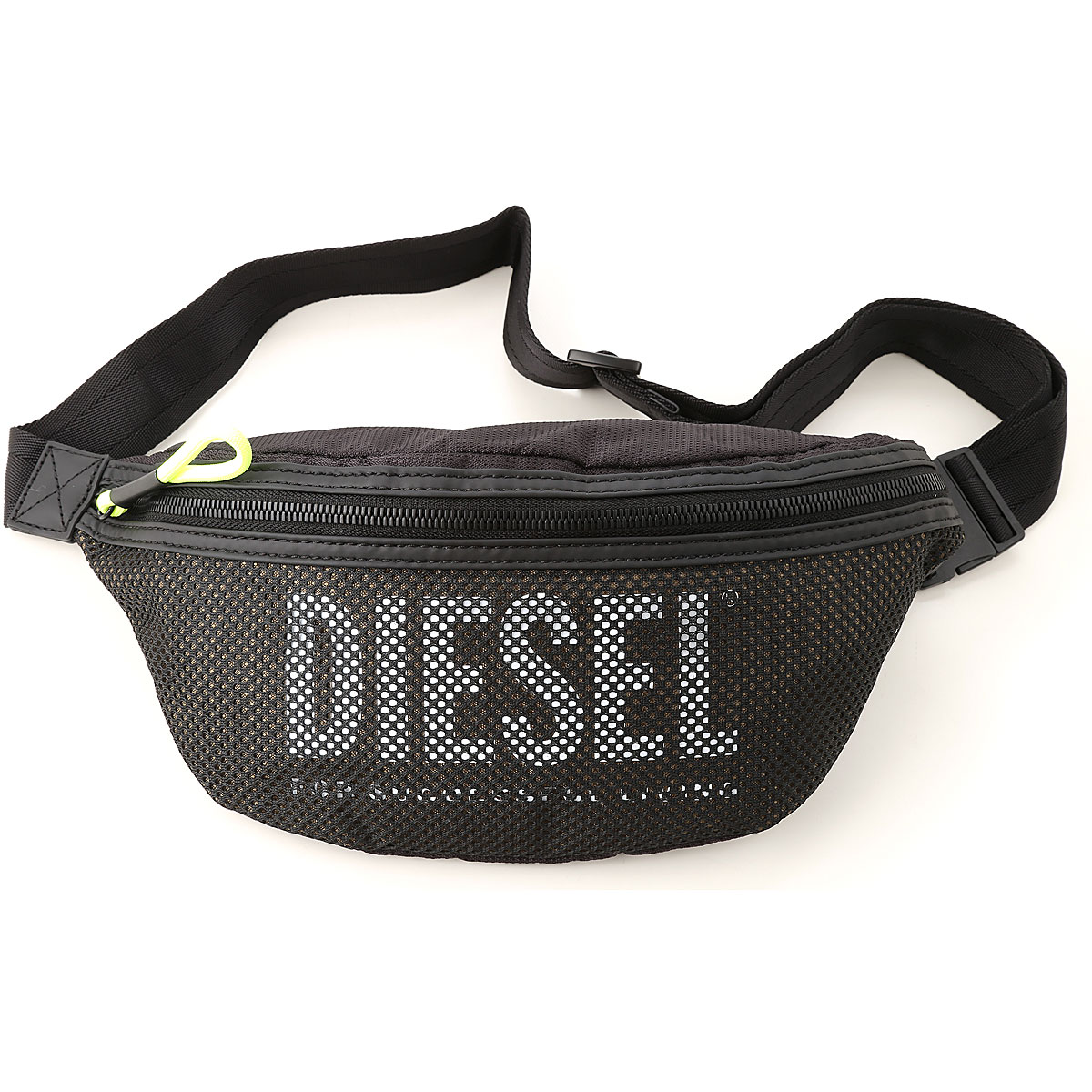 Diesel Weekender Duffel Bag for Men, Black, polyamide, 2017