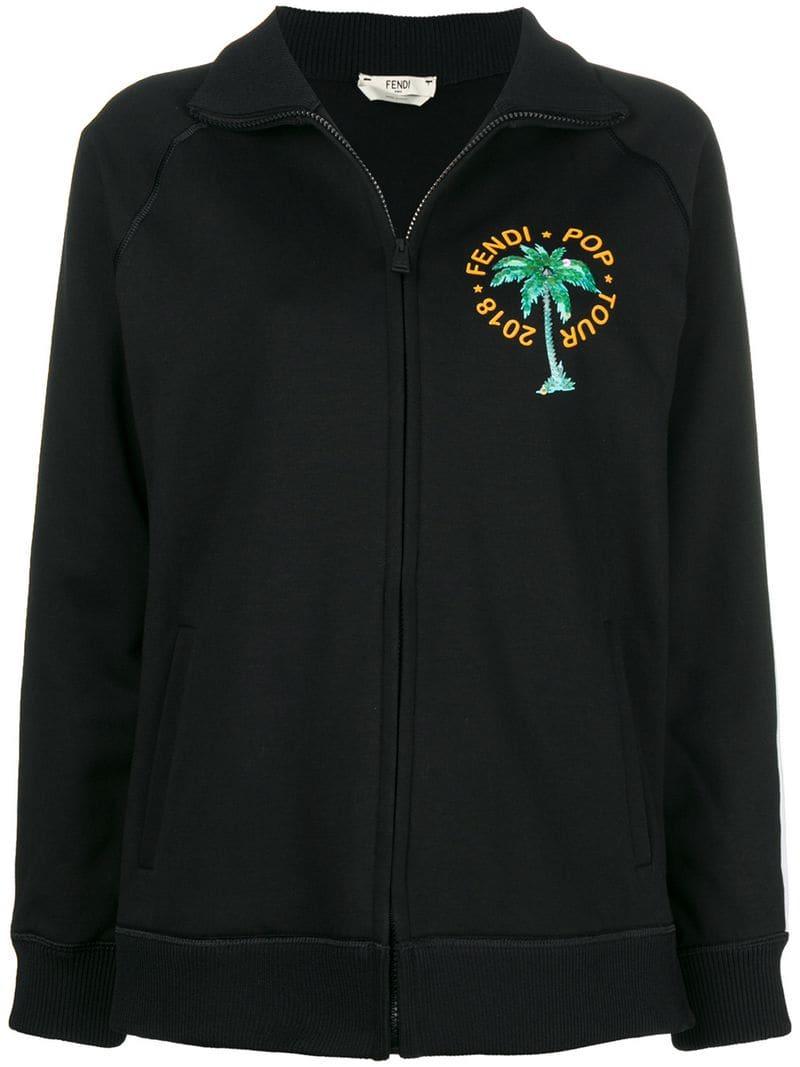 promo code b0c7f 5bacd Fendi embellished bomber jacket - Black