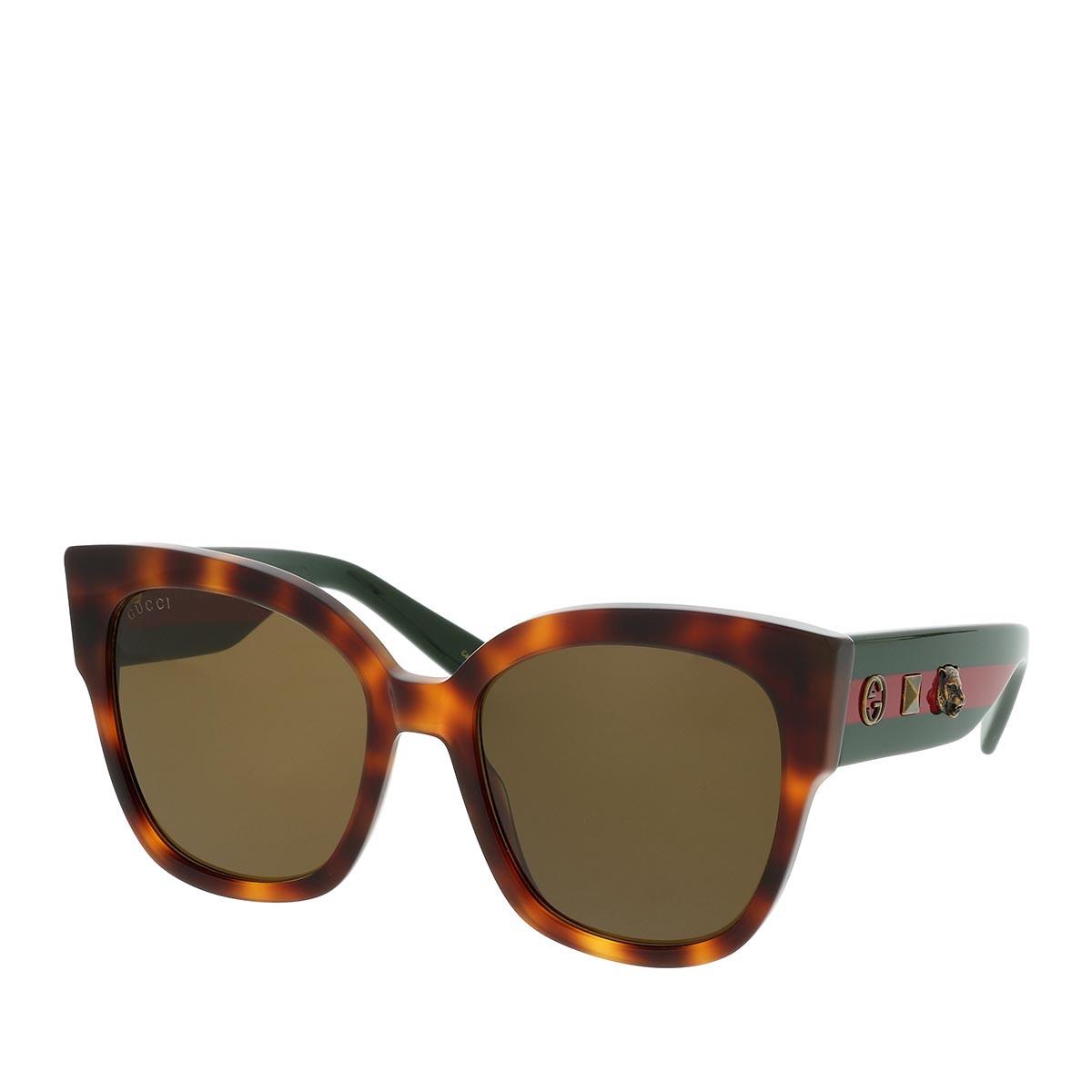 Gucci Sonnenbrille - GG0059S 55 002 - in braun - für Damen