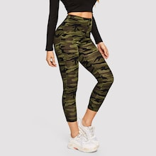 High Waist Camo Print Leggings