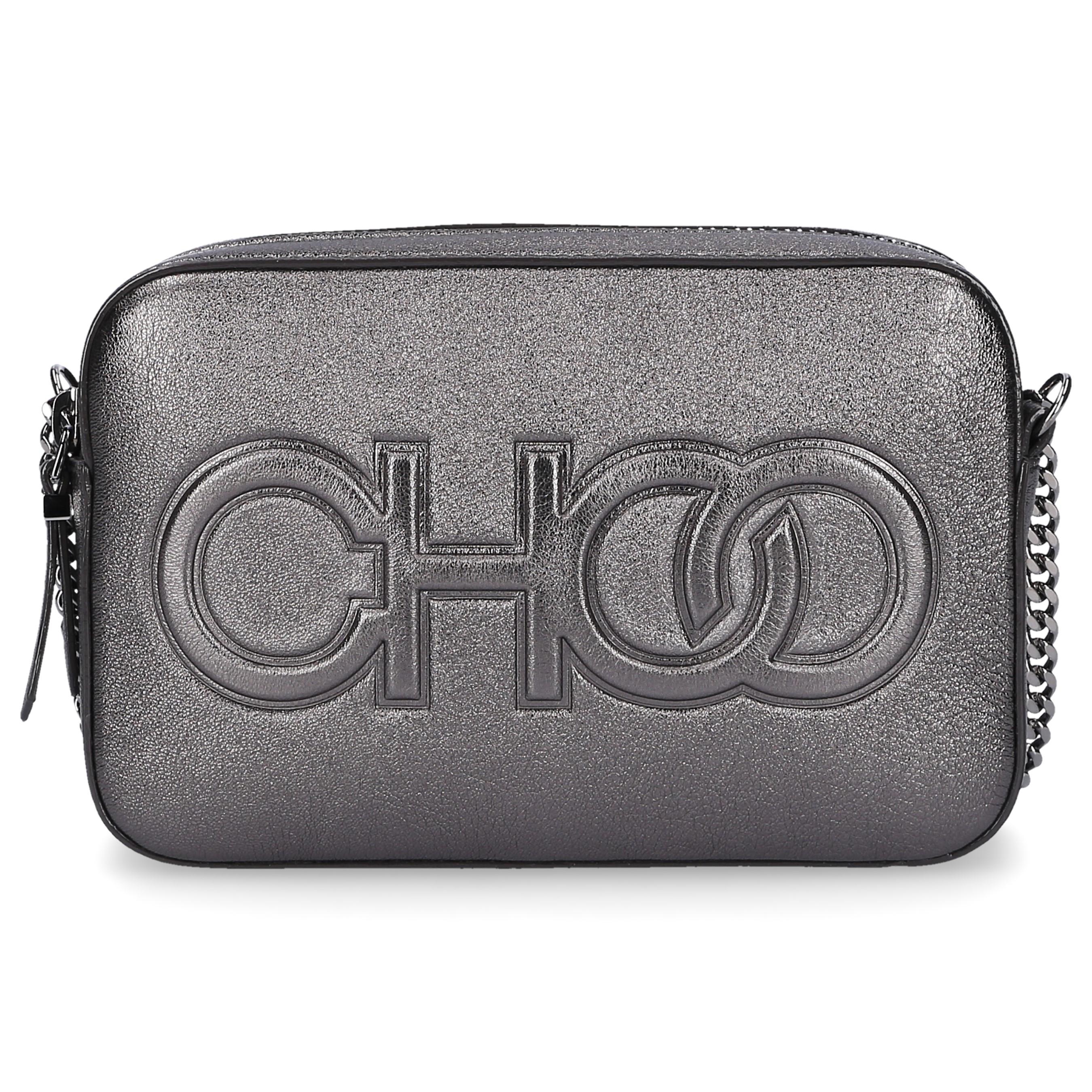 Jimmy Choo Handtasche BALTI Nappaleder Logo silber