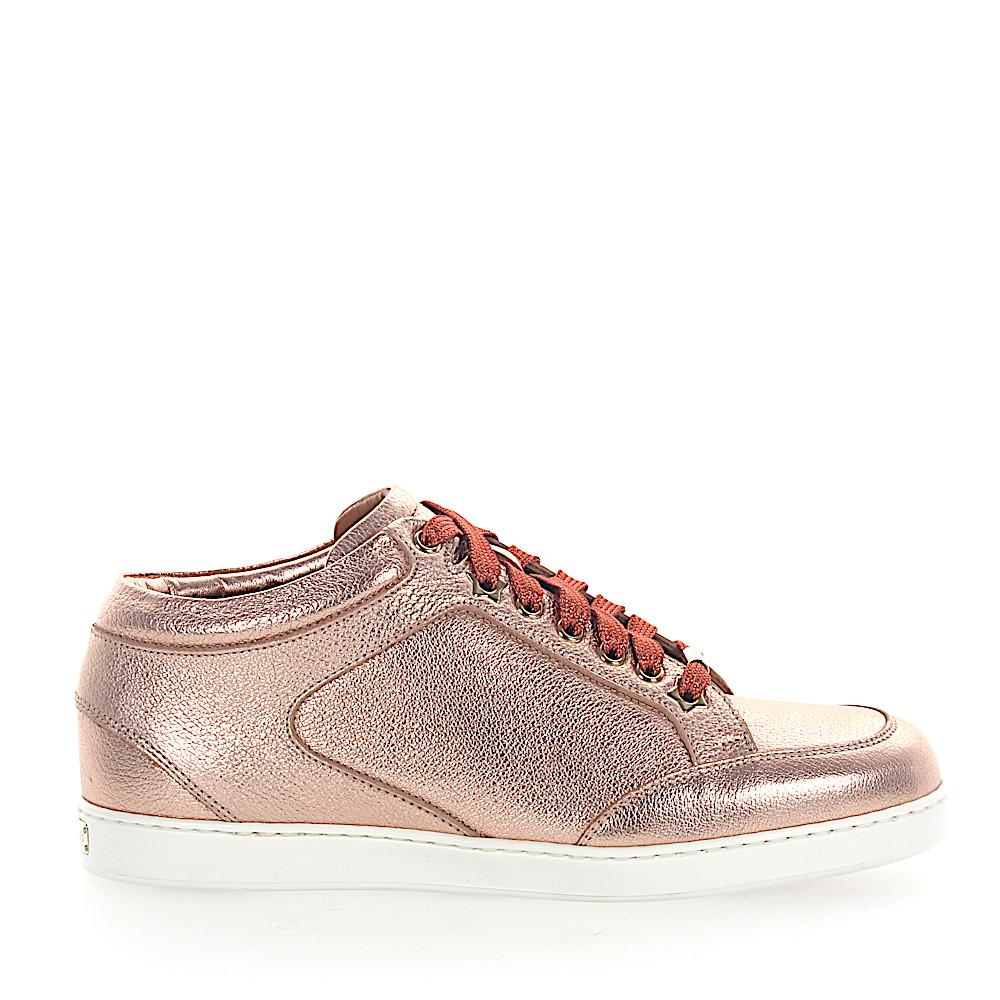 Jimmy Choo Sneaker MIAMI Leder metallic rosè
