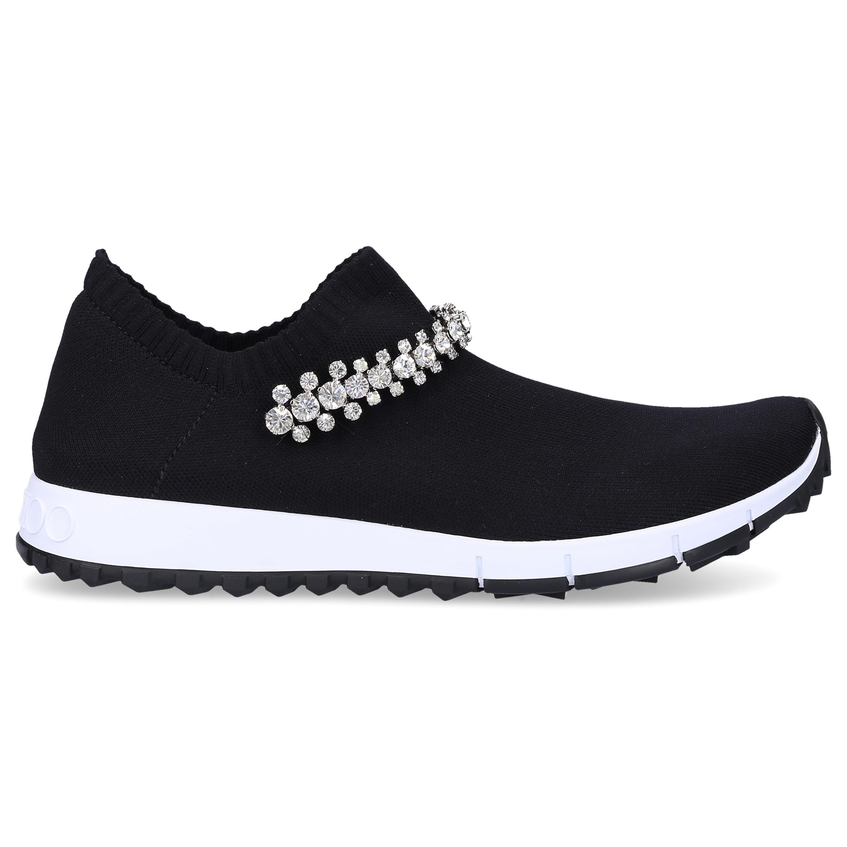 Jimmy Choo Sneaker low VERONA Baumwolle Polyamid Polyester Swarovski schwarz