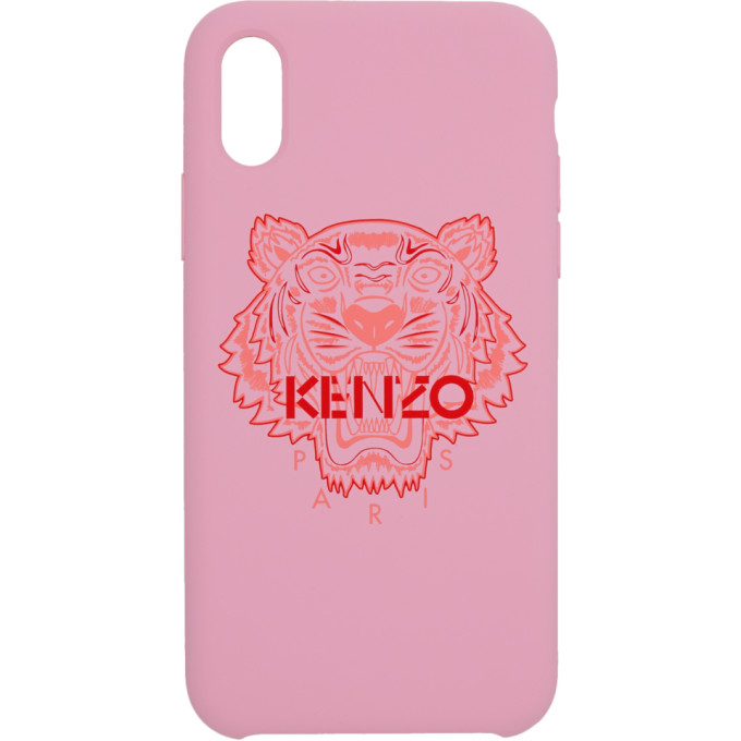 Kenzo Pink and Red Tiger iPhone X/XS Case