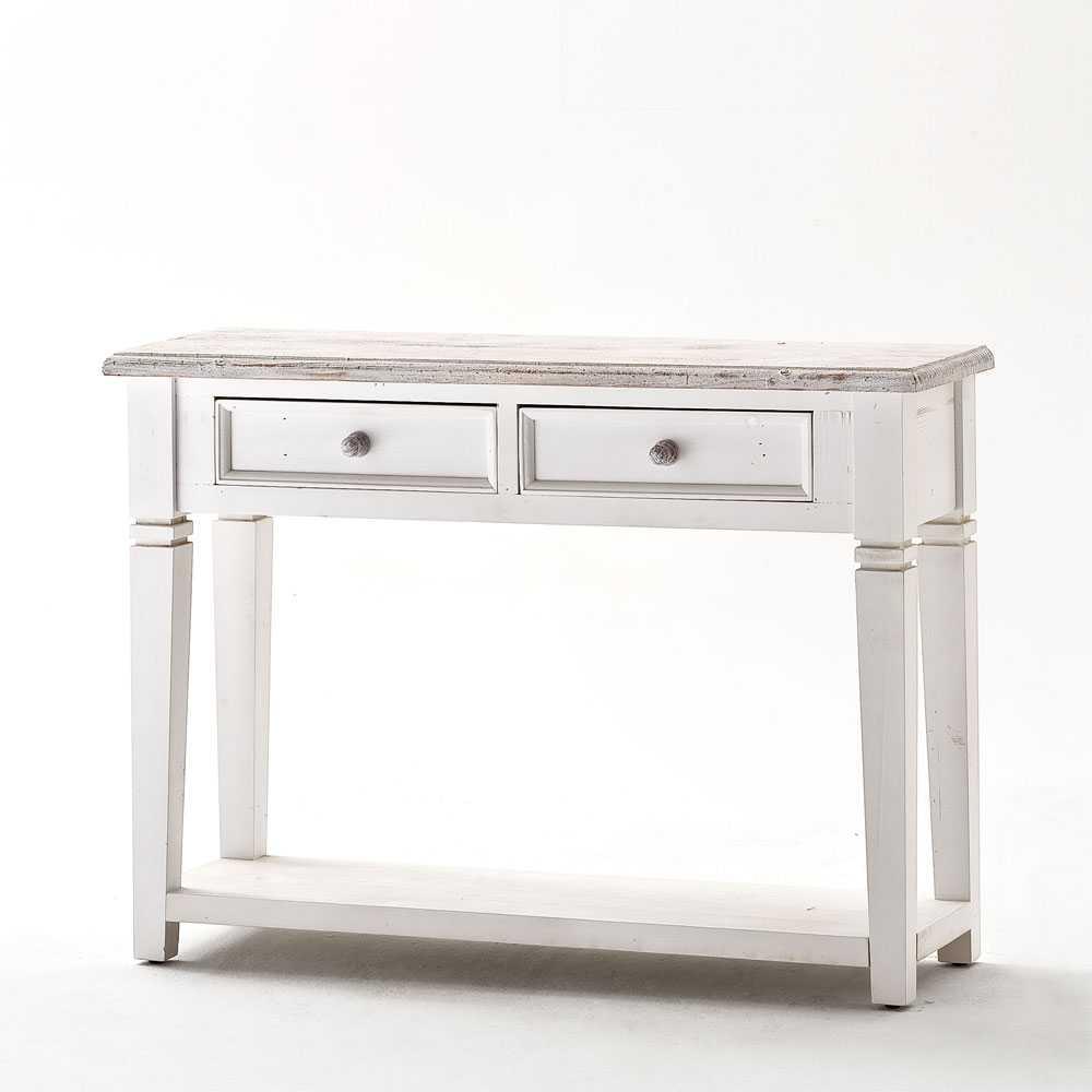 Konsolentisch aus weißem Kieferholz Vintage Design