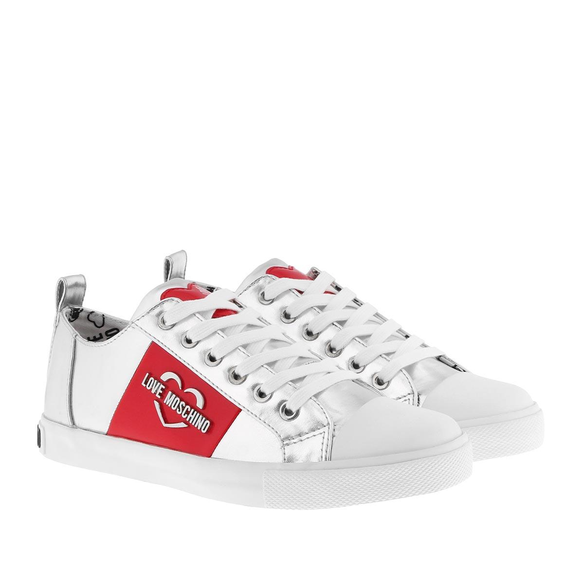 Love Moschino Sneakers - Gomma Sneaker Argento - in silber - für Damen