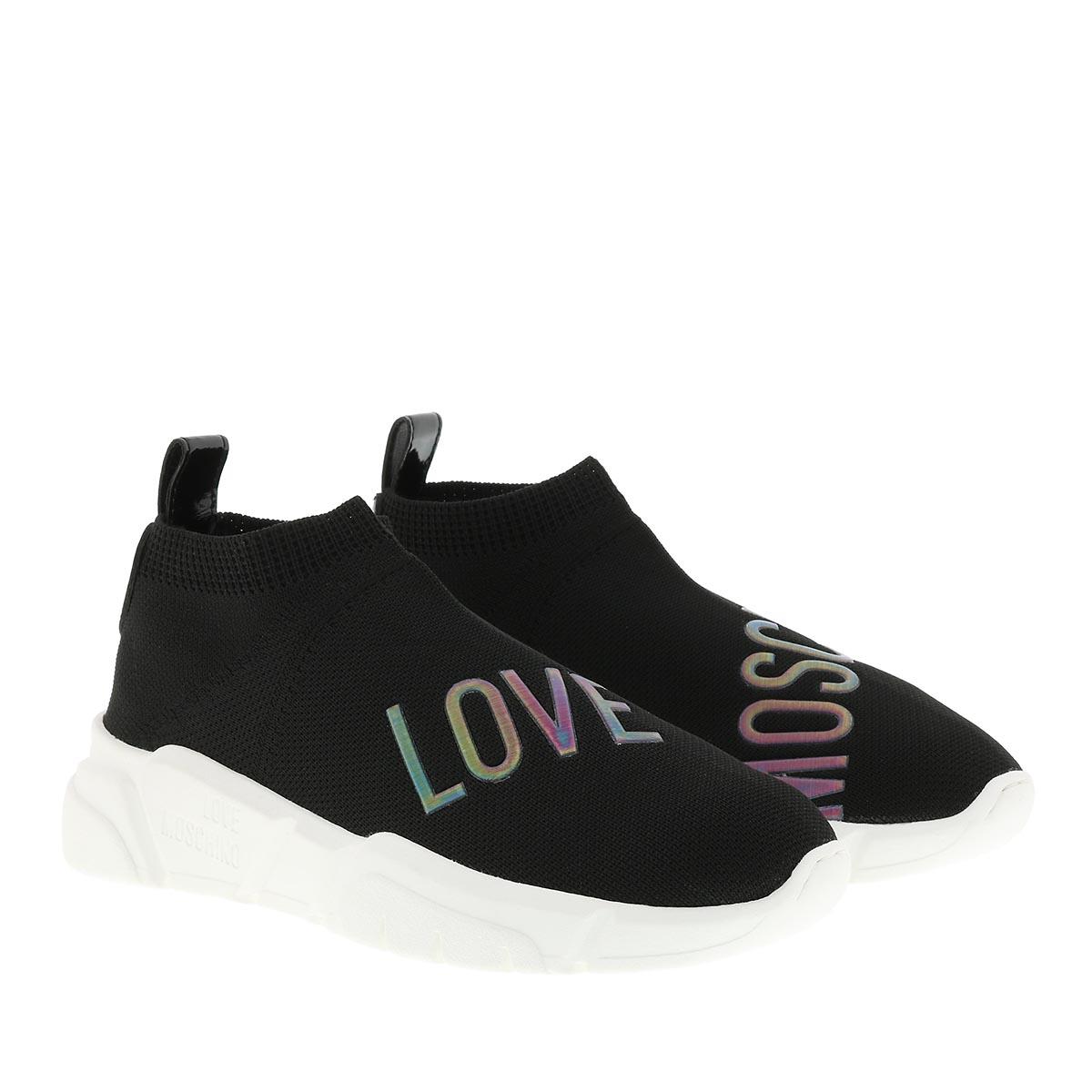 Love Moschino Sneakers - Running Stretch Sneaker Nero - in schwarz - für Damen