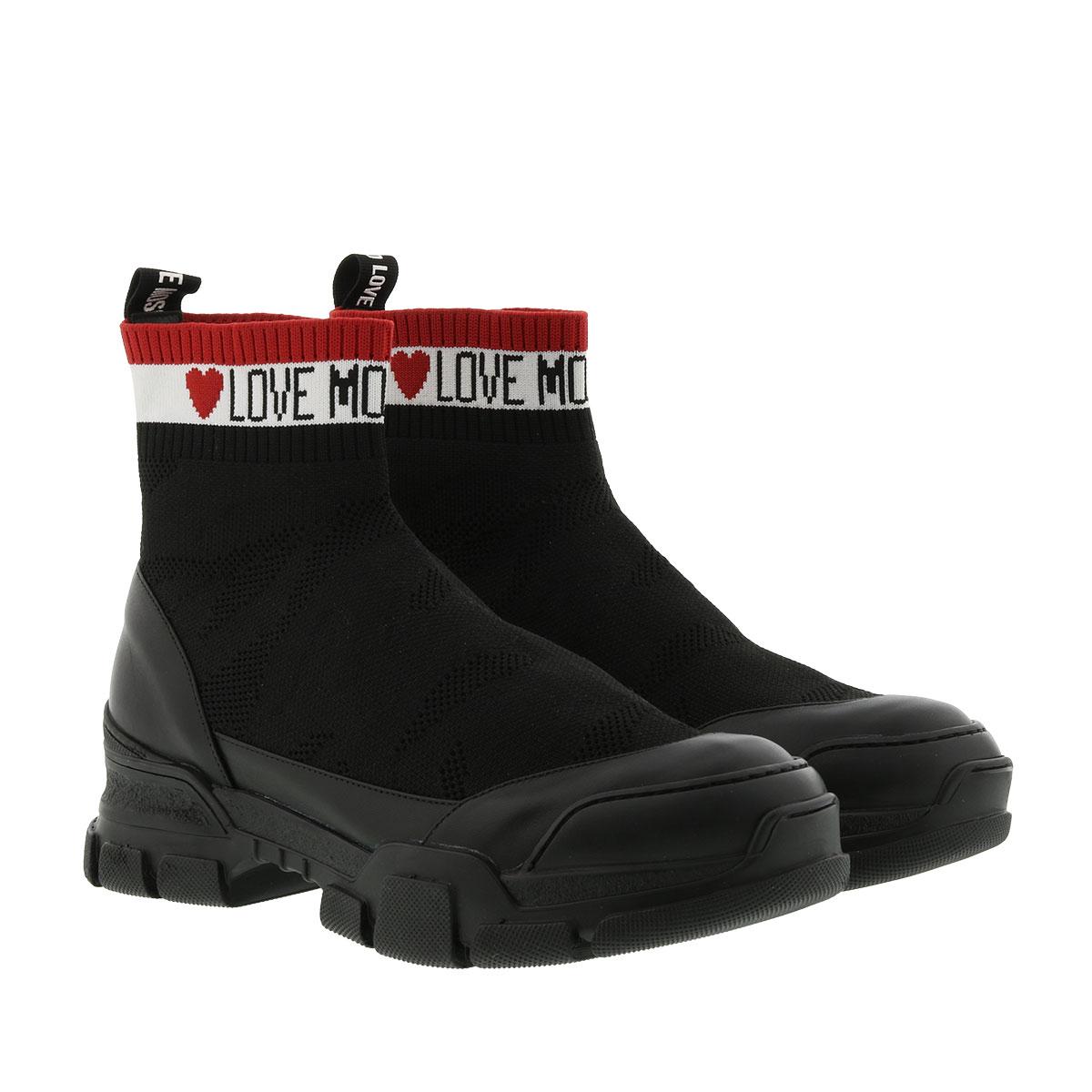 Love Moschino Sneakers - Sneaker High Heart Nero - in schwarz - für Damen
