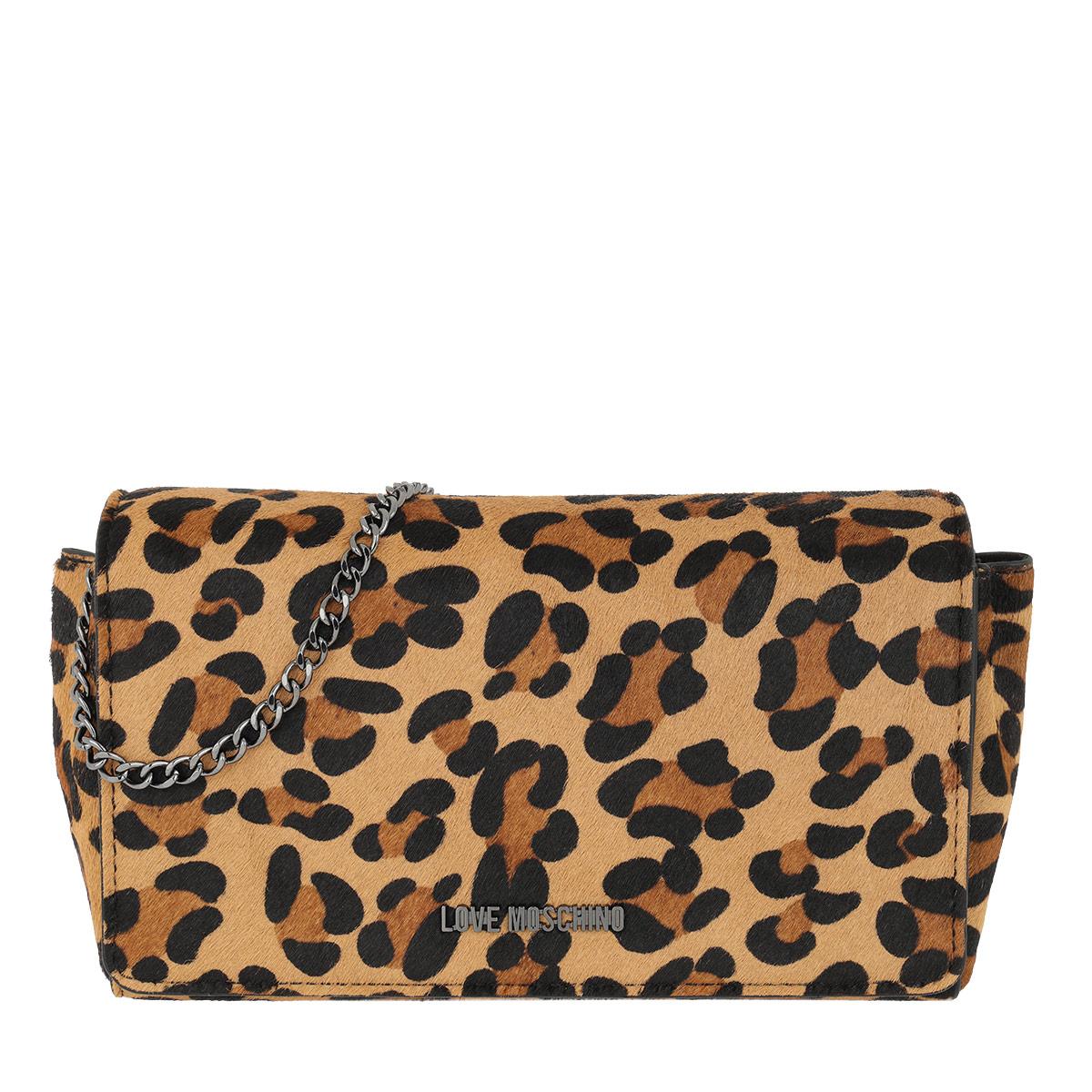 Love Moschino Umhängetasche - Cavallino Leopard Crossbody Bag Leopardo - in cognac - für Damen
