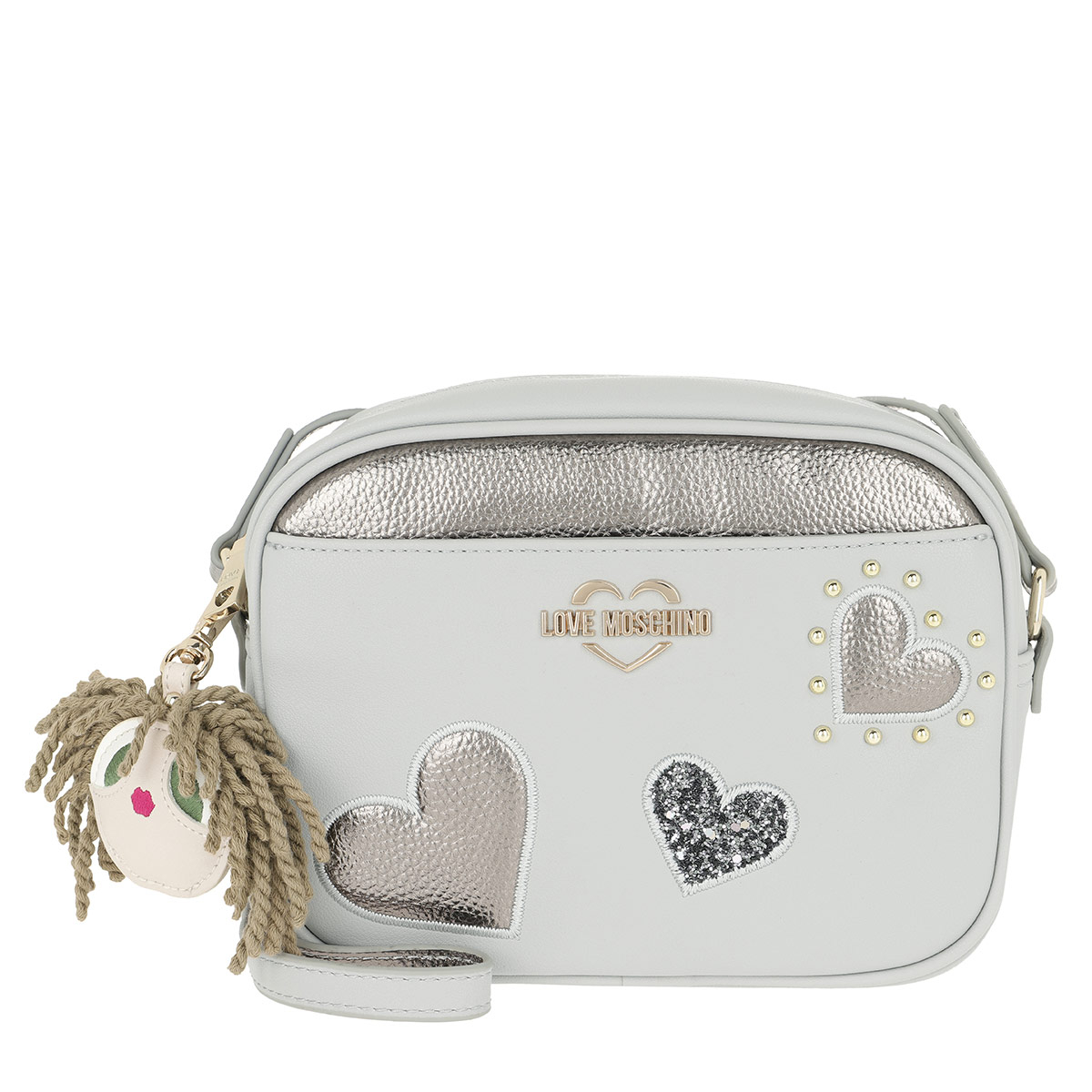 Love Moschino Umhängetasche - Charming Dolls Crossbody Bag Grey - in grau - für Damen