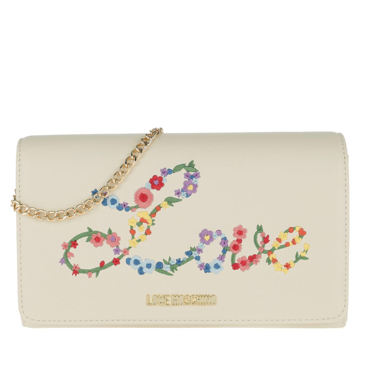Love Moschino Umhängetasche - Nappa Pu Chain Crossbody Bag Bianco - in weiß - für Damen