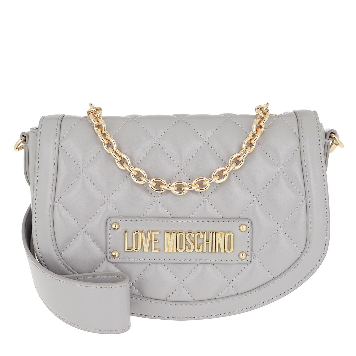 Love Moschino Umhängetasche - Quilted Crossbody Bag Grey - in grau - für Damen