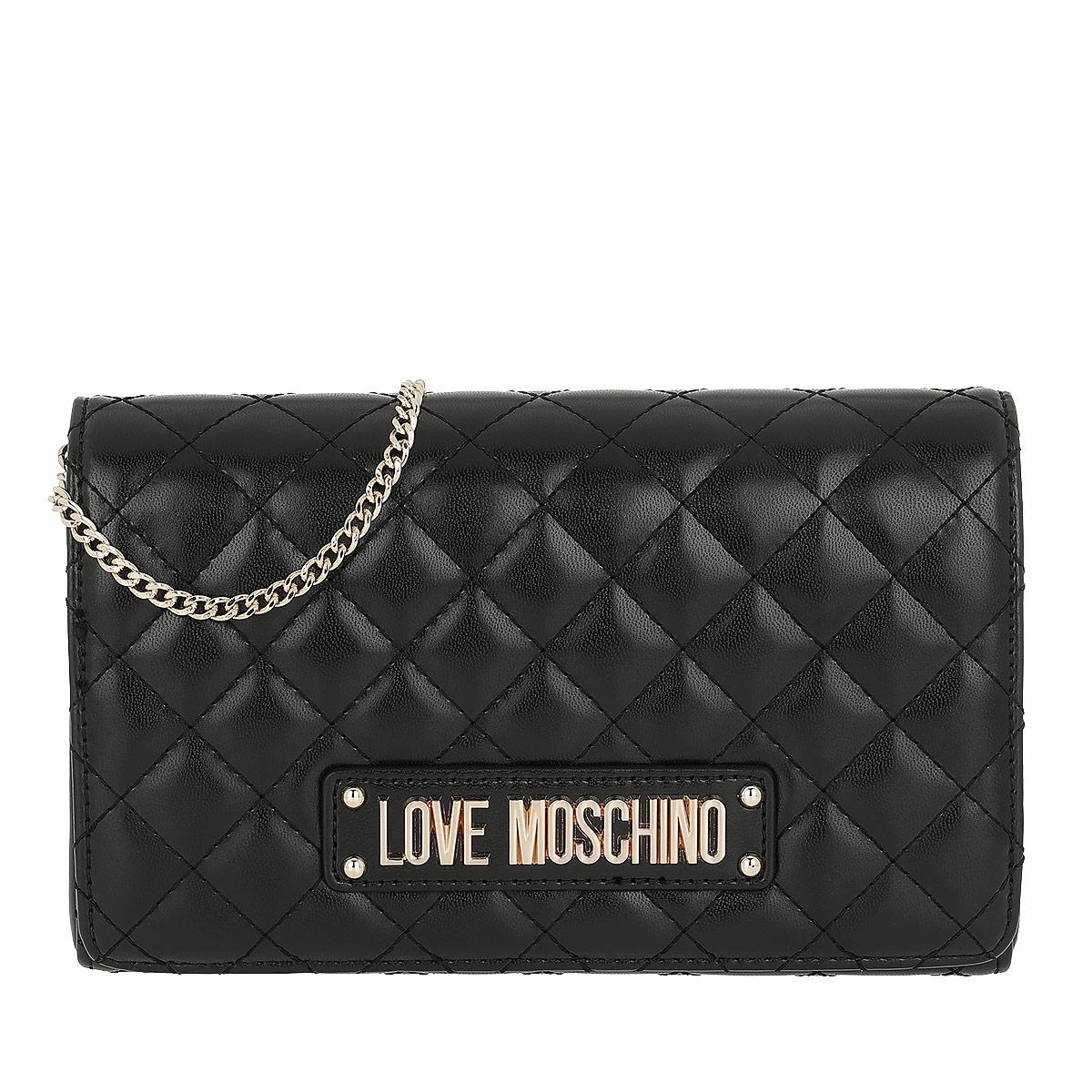 Love Moschino Umhängetasche - Quilted Crossbody Bag Nero - in schwarz - für Damen