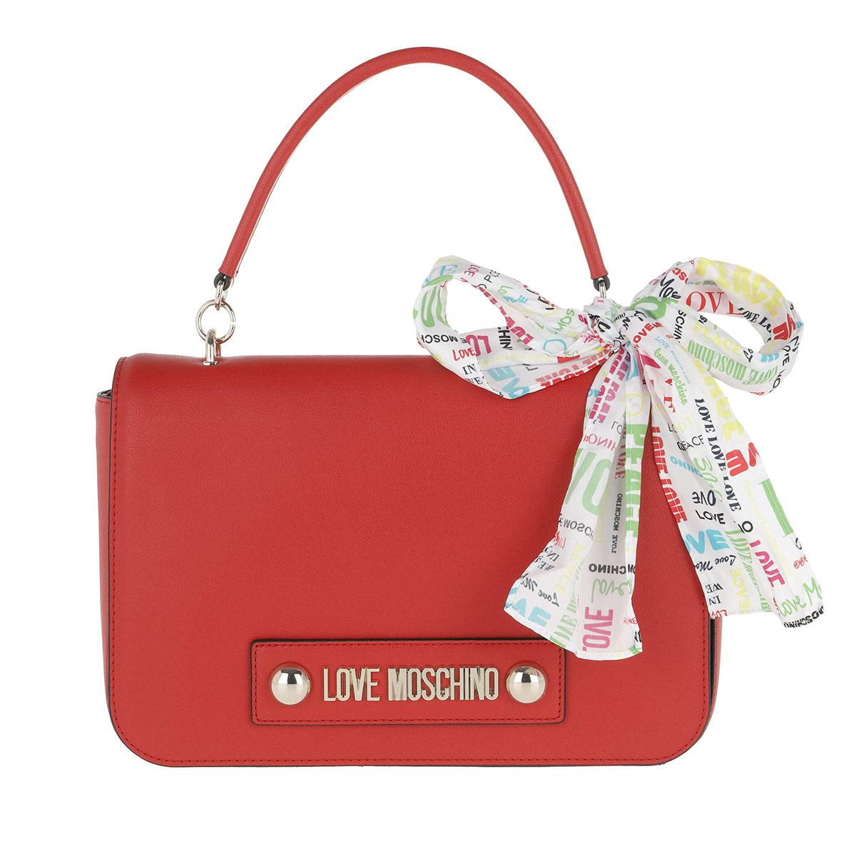 Love Moschino Umhängetasche - Soft Grain Pu Shoulder Bag Rosso - in rot - für Damen