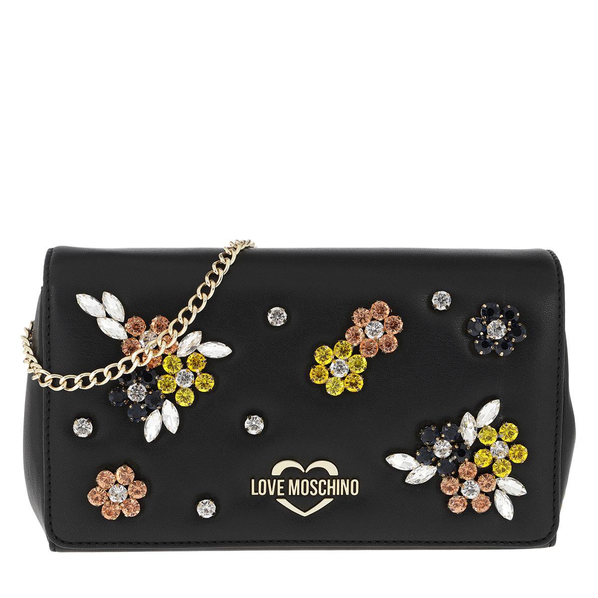 Love Moschino Umhängetasche - Strass Crossbody Bag Black - in schwarz - für Damen