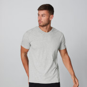 Luxe Classic V-Neck T-Shirt - Silber - XS