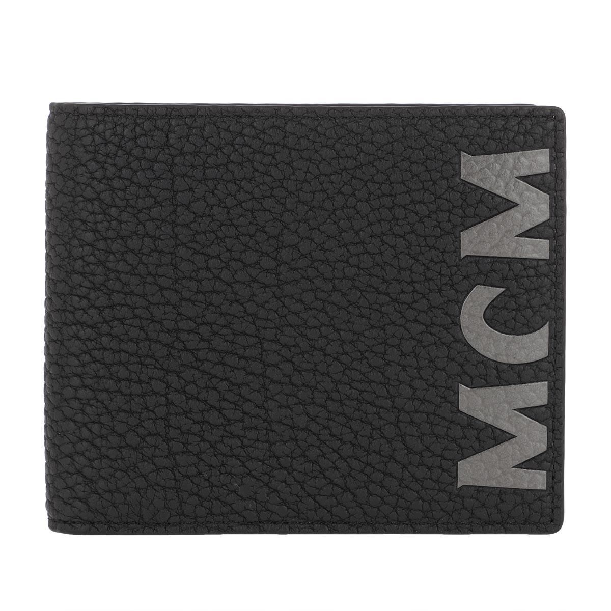 MCM Portemonnaie - New Big Logo Small Wallet Black - in schwarz - für Damen