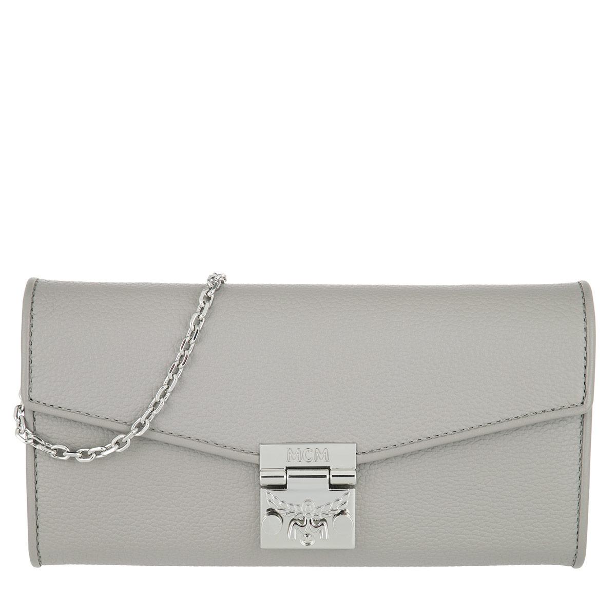 MCM Portemonnaie - Patricia Park Avenue Flap Wallet Two-Fold Large Arch Grey - in grau - für Damen