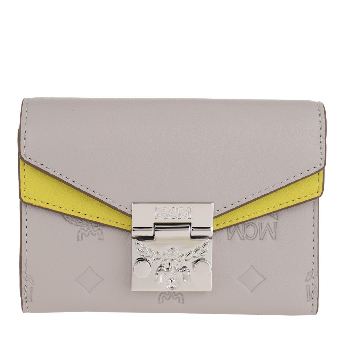 MCM Portemonnaie - Small Wallet Dove - in grau - für Damen