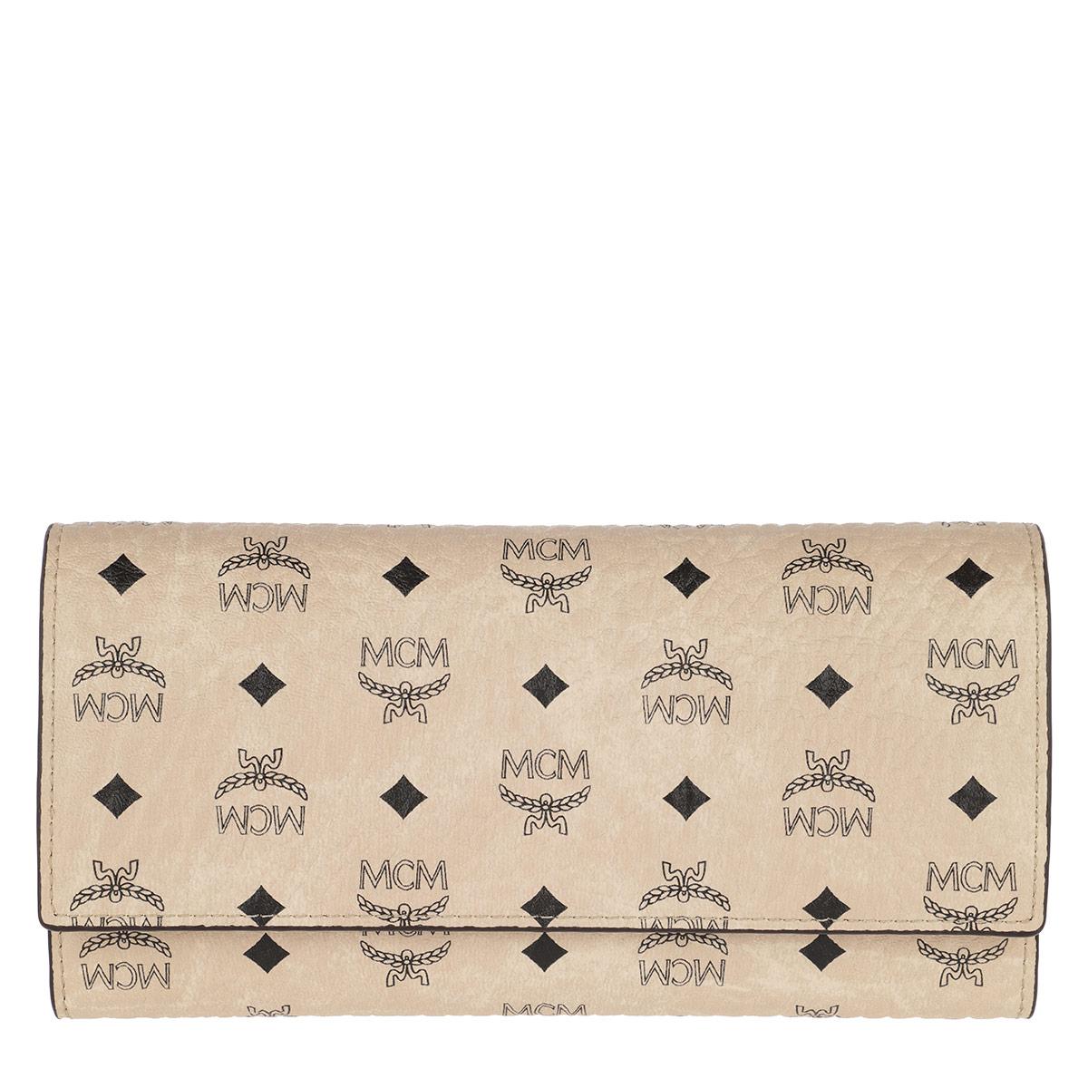MCM Portemonnaie - Visetos Original Flap Wallet Large Beige - in beige - für Damen